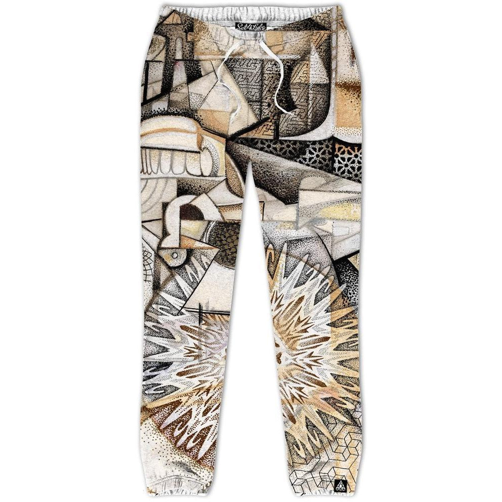 Set 4 Lyfe / Nick Chaboya - DOTS ON PLANES IN SPACE JOGGERS - Clothing Brand - Joggers - SET4LYFE Apparel