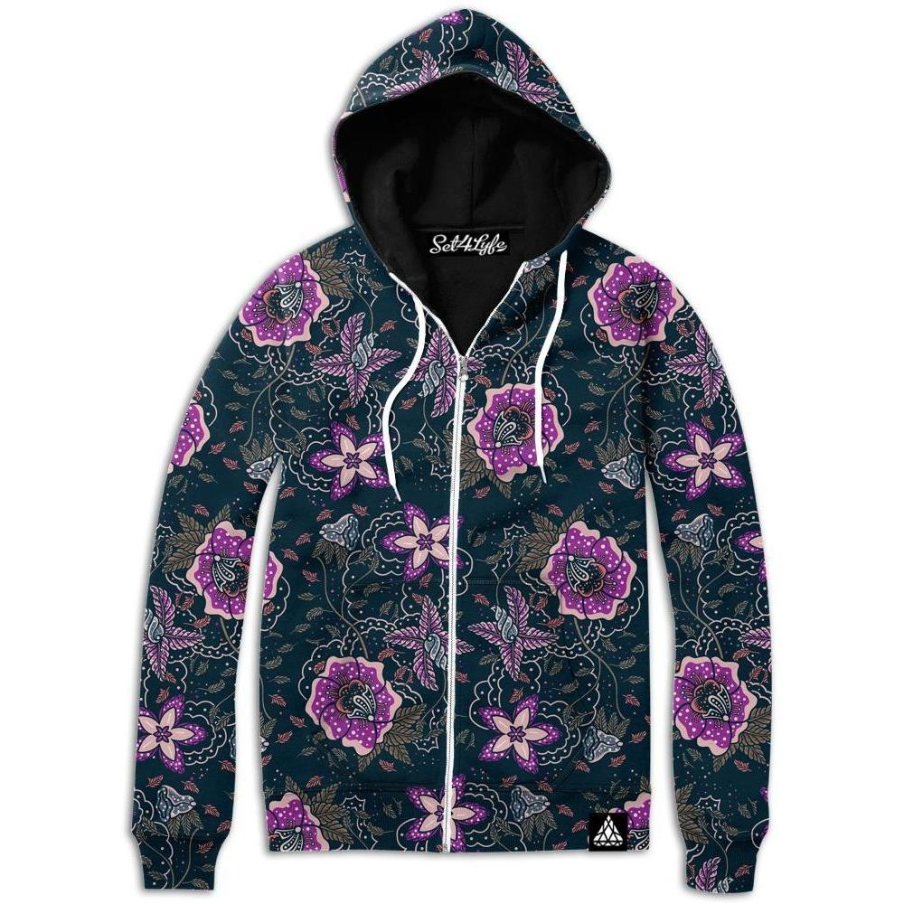FLORIST ZIP UP HOODIE (Clearance)