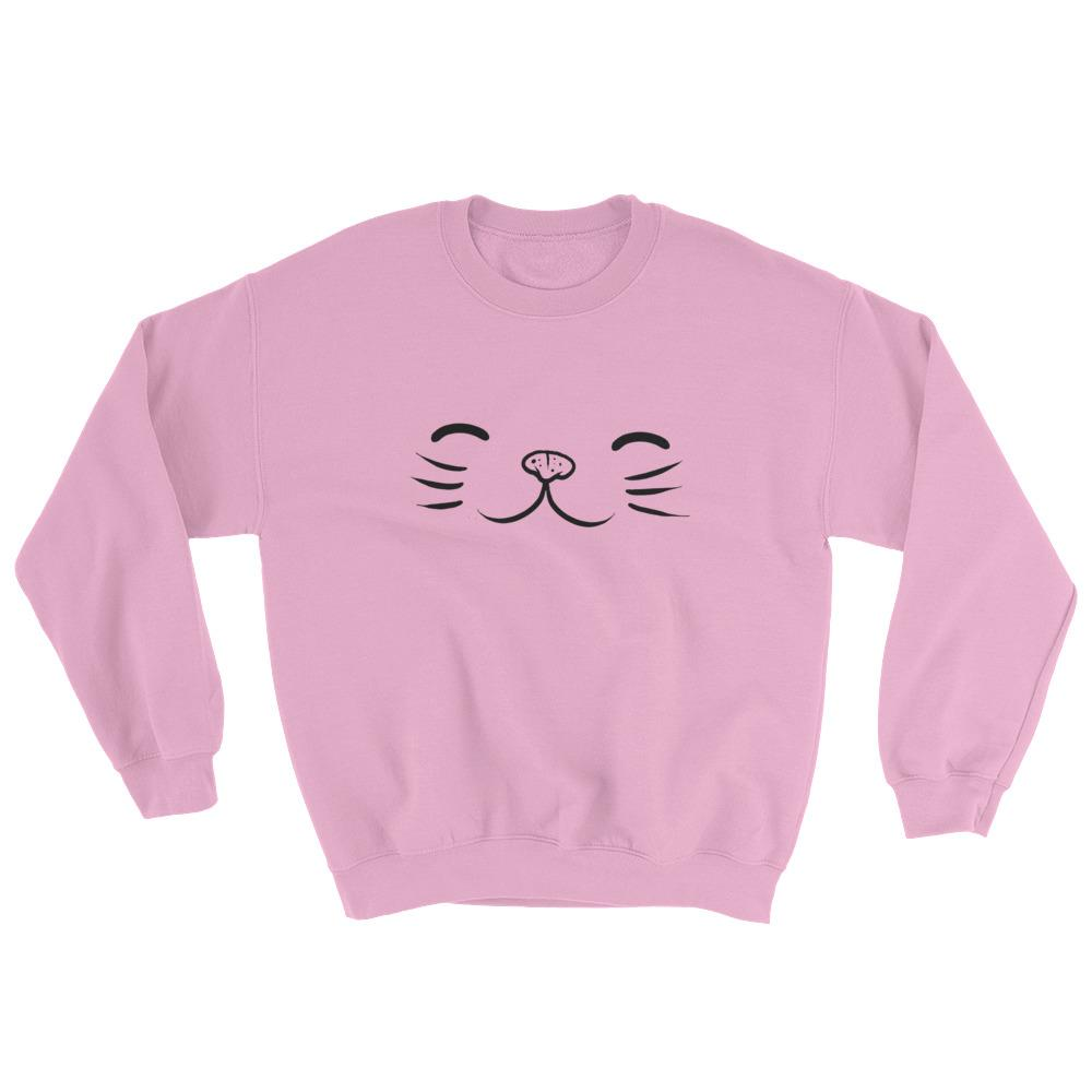 Set 4 Lyfe Apparel - KITTY FACE SWEATSHIRT - Clothing Brand - Graphic Sweatshirt - SET4LYFE Apparel