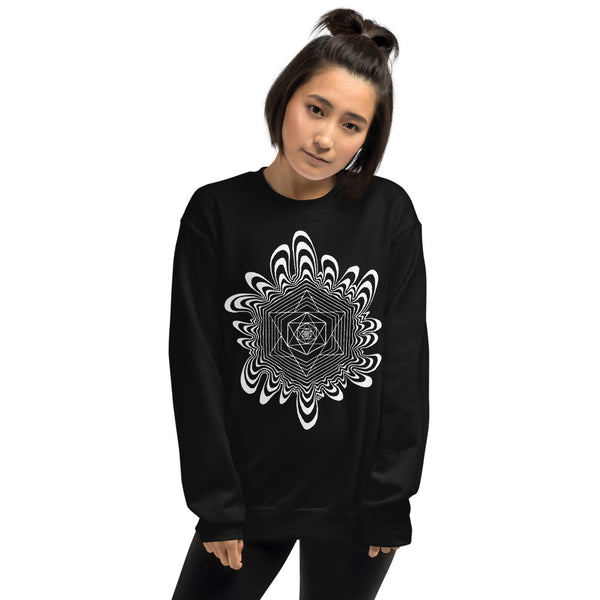 WONKY BLACK GRAPHIC SWEATSHIRT