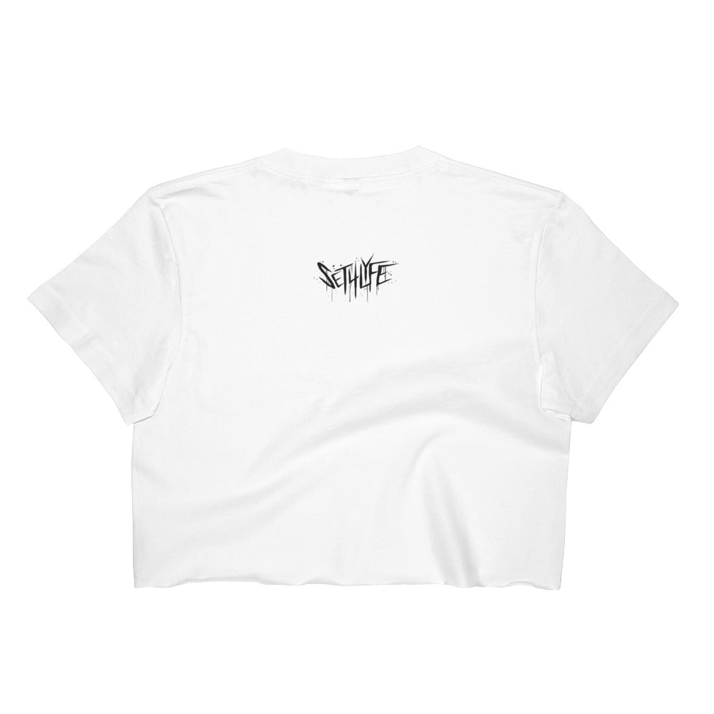 SACRED SHARK CROP TEE