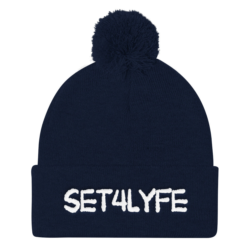 Set 4 Lyfe - CYPT LOGO POM POM BEANIE - Clothing Brand - Hat - SET4LYFE Apparel