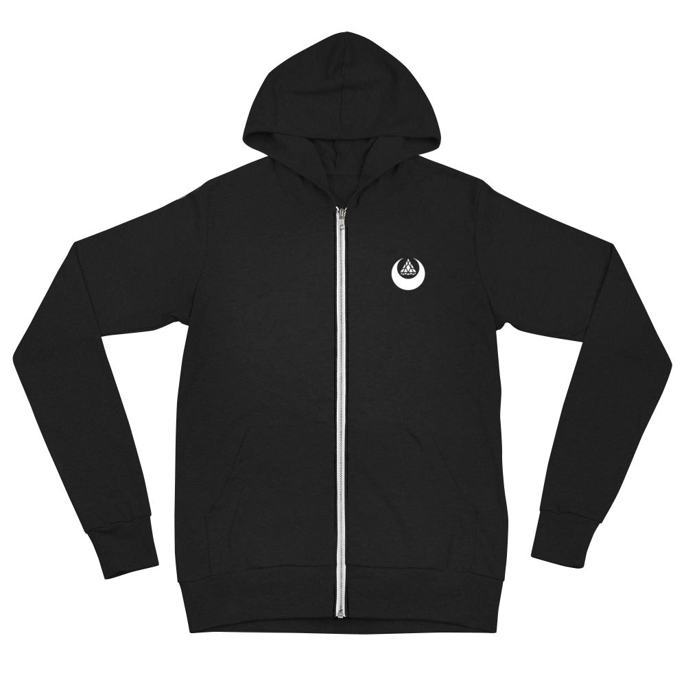 Set 4 Lyfe - LUNA ZIP UP HOODIE - Clothing Brand - Graphic Zip Up Hoodie - SET4LYFE Apparel