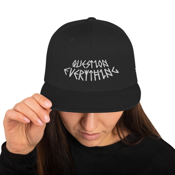 QUESTION EVERYTHING SNAPBACK HAT