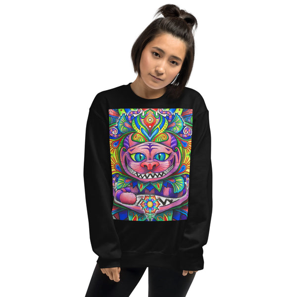 CHESHIRE CAT GRAPHIC SWEATSHIRT