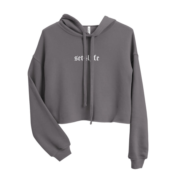 LOW KEY GRAPHIC CROP HOODIE