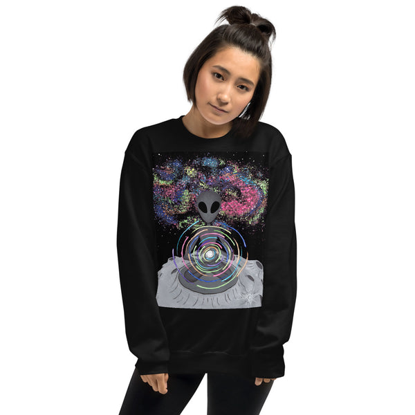 ALIEN BRAINWASH GRAPHIC SWEATSHIRT