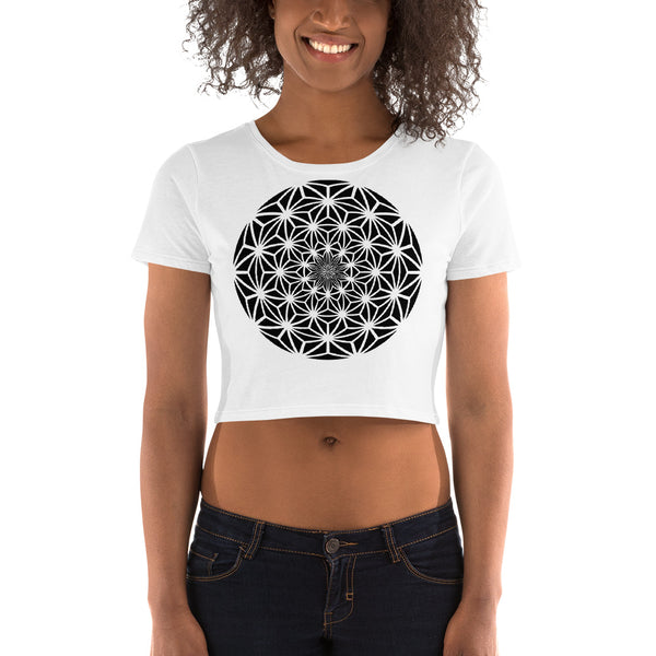 ASANOA SPHERE GRAPHIC CROPTEE