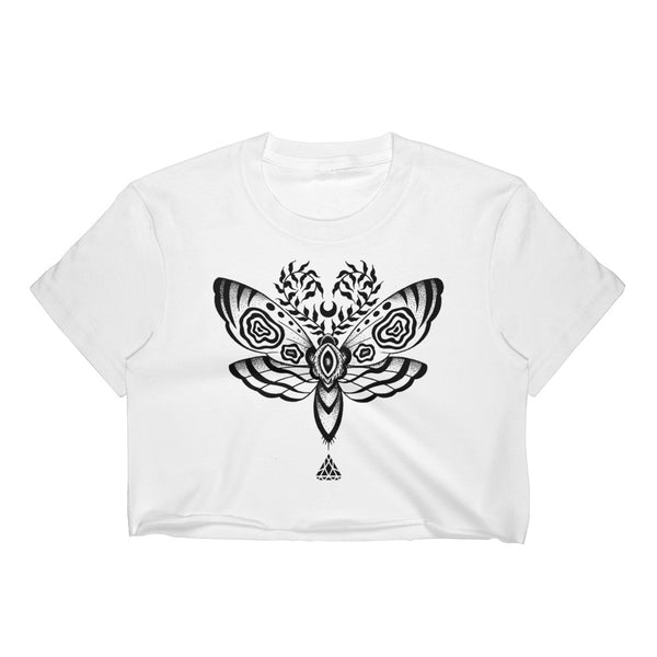 Set 4 Lyfe Apparel / Cat Siren - MOTH CROP T - Clothing Brand - Croptee - SET4LYFE Apparel