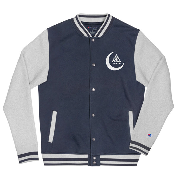 CRESCENT EMBROIDERED VARSITY JACKET x CHAMPION