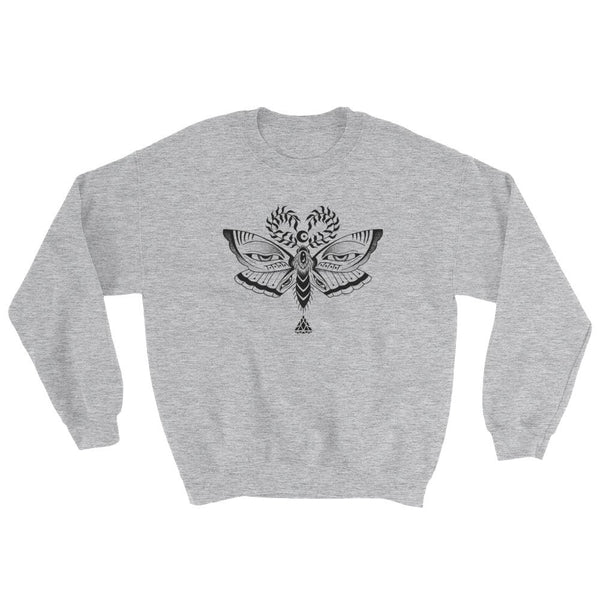 Set 4 Lyfe Apparel / Cat Siren - MOTH EYES SWEATER - Clothing Brand - Graphic Sweatshirt - SET4LYFE Apparel