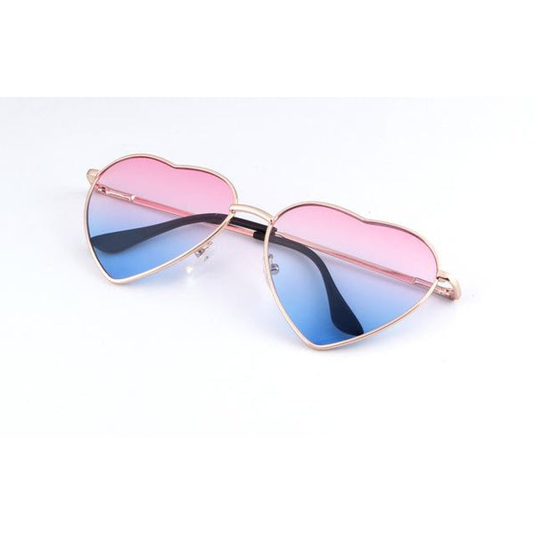 LUCY HEART SHAPED SUNGLASSES-Set 4 Lyfe Apparel