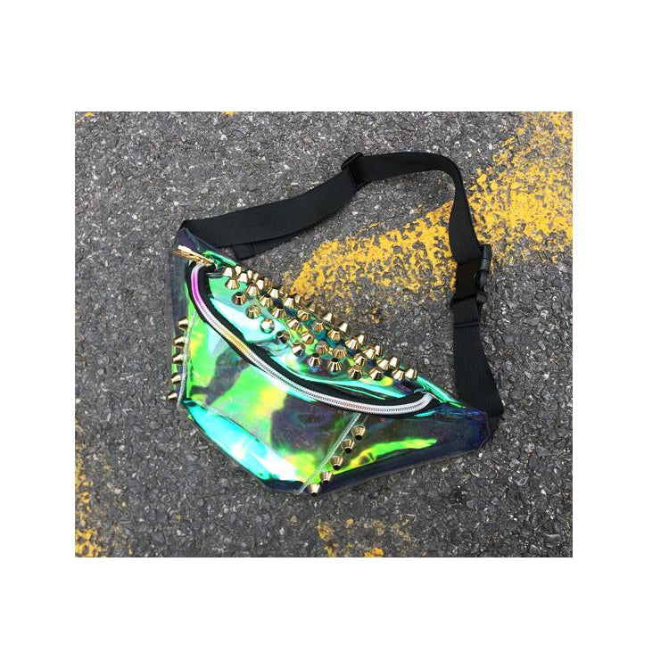 Set 4 Lyfe - STUDDED TRANSLUCENT FANNY PACK - Clothing Brand - Fanny Packs - SET4LYFE Apparel
