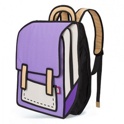 2d CARTOON REALITY BACKPACK