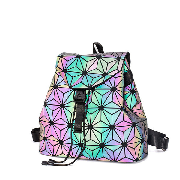 HOLOGRAPHIC LUMINOUS LIGHT REACTIVE SHOULDER BAG