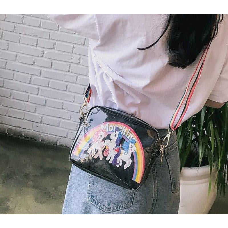 RAINBOW HORSE SHOULDER BAG
