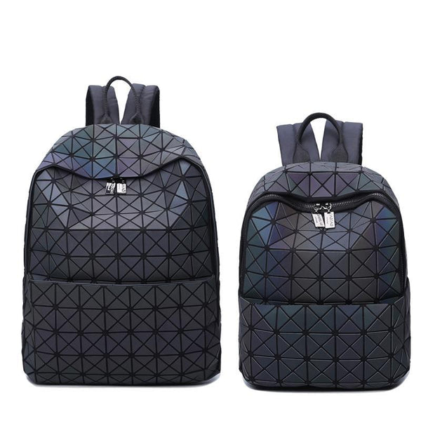 HOLOGRAPHIC LIGHT REACTIVE ZIPPER BACKPACK