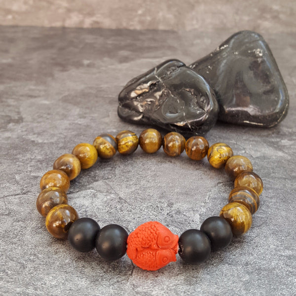 Koi Fish Tiger Eye Bracelet - Unisex