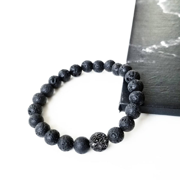 BLACK | Lava & Pave Filigree Bracelet