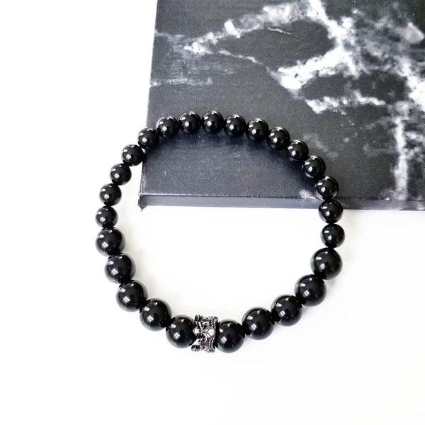 BLACK | Onyx Pave Crown Bracelet