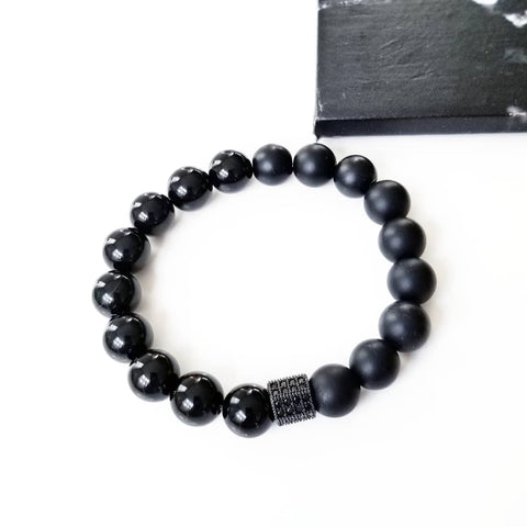 Onyx Pave Hexagon Bracelet