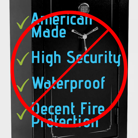 No waterproof gun safes on the market today