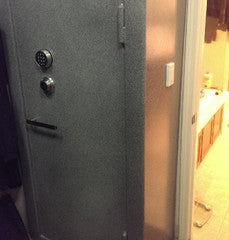 light switch installed on gun safe