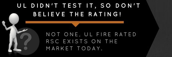 gun safe fire rating