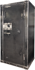 distressed gun safe