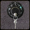 key in safe dial