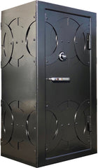 modern circle black gun safe