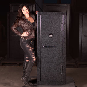 Gun Safe For Sale Online from Sturdy with female model