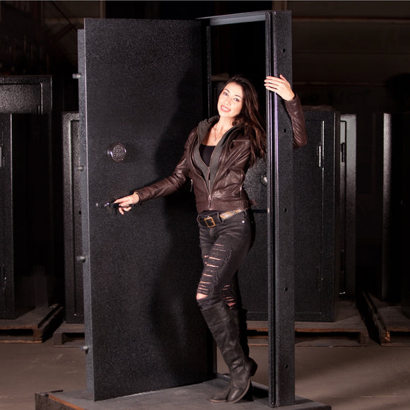 Custom Size Vault Door with female model