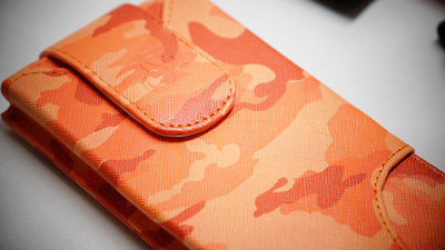Cell Phone Leather Shoulder Holster (T-FIT) - Salmon Camo (Pre Order) - LD West