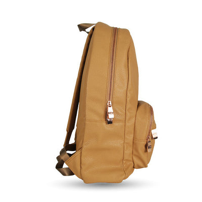 Cognac Backpack With Rose Gold Hardware - LD West