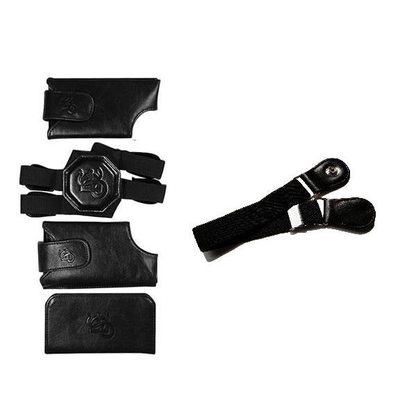 Basic Motorcycle Bundle - Black Holster & Sport Chest Strap - LD West