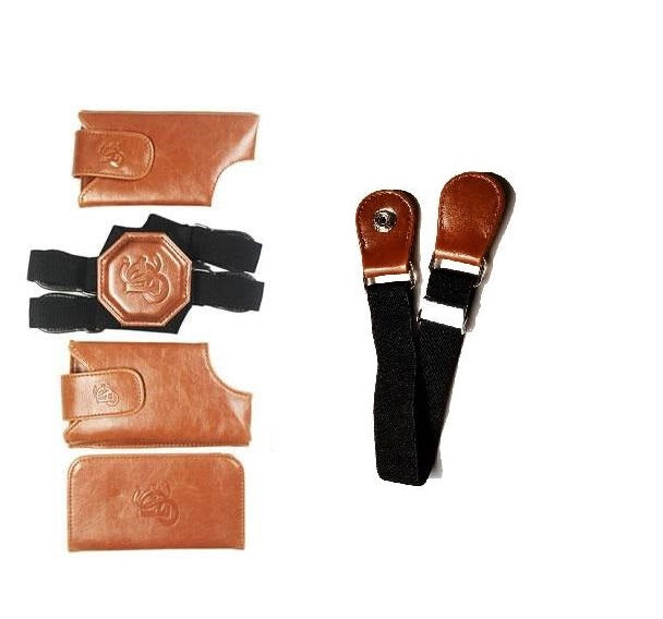 Basic Motorcycle Bundle - Cognac Holster & Sport Chest Strap - LD West