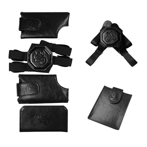 Black Holster, Non Stretch Nylon Strap & Passport Pouch Bundle - LD West