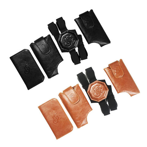 Leather Shoulder Holster Bundle Deal - Black & Cognac