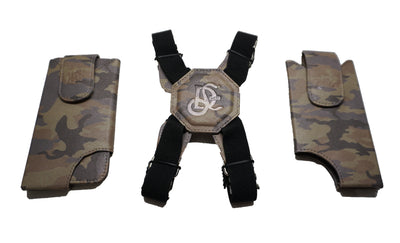 Cell Phone Leather Shoulder Holster (T-FIT) - Camo