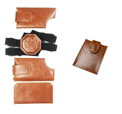 Cognac Holster & Passport Pouch Bundle - LD West