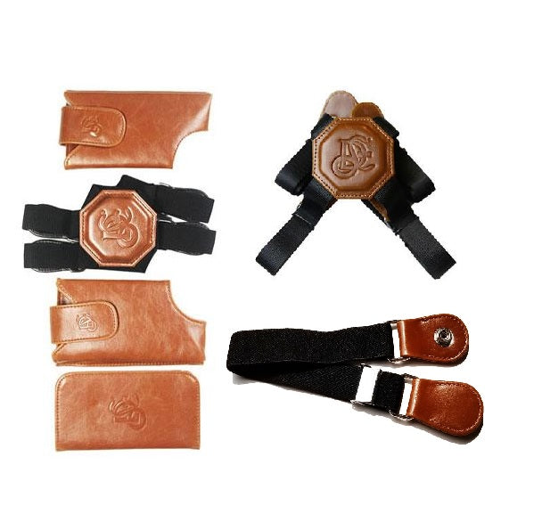 Motorcycle Bundle - Cognac Holster, Nylon Strap & Sport Chest Strap - LD West
