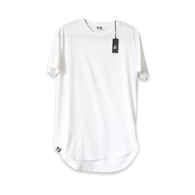 Scooped Long Tee - White - LD West