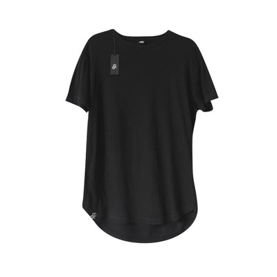 Scooped Long Tee - Black - LD West