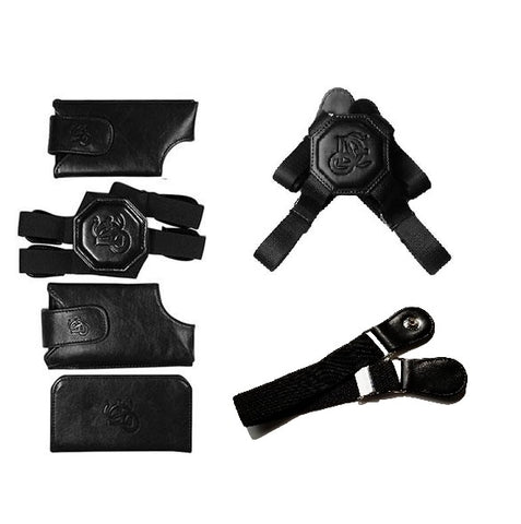 Black Holster, Nylon Strap & Sport Chest Strap Bundle - LD West