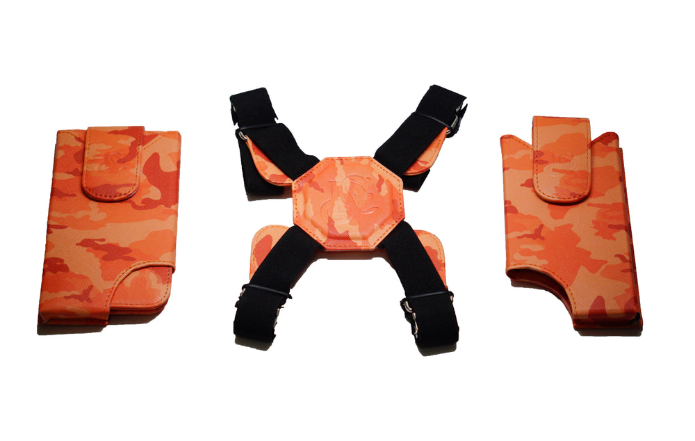 Cell Phone Leather Shoulder Holster (T-FIT) - Salmon Camo