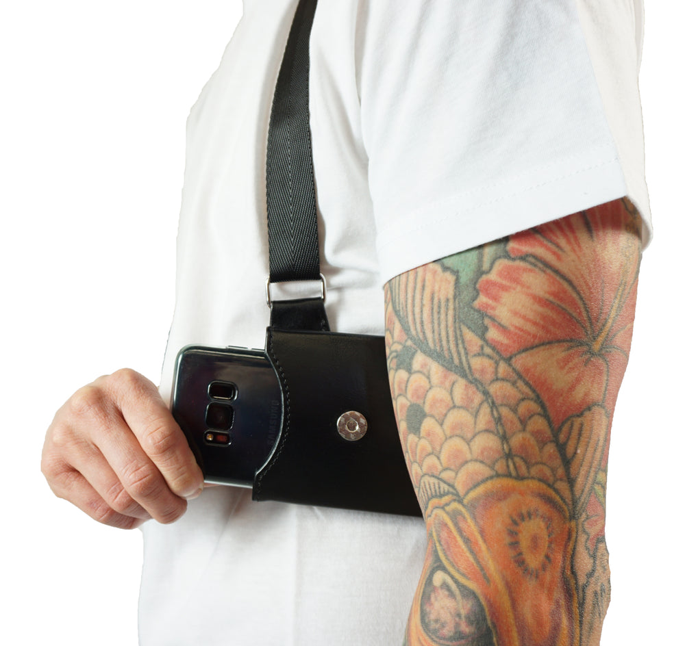 Dual Phone Pouches - Black - LD West