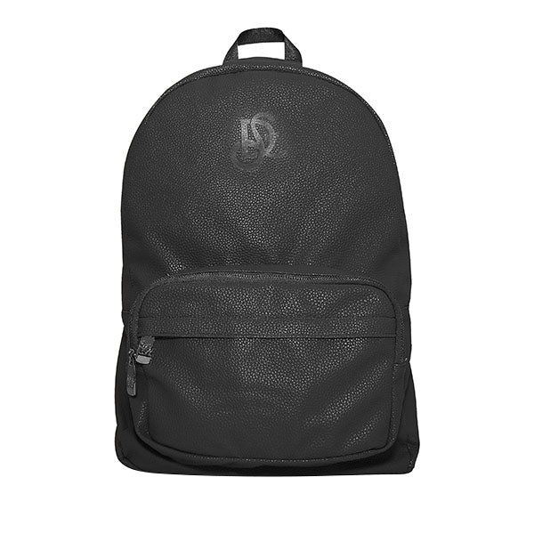 Leather Backpack - Black/Jet Black Chrome Hardware - LD West