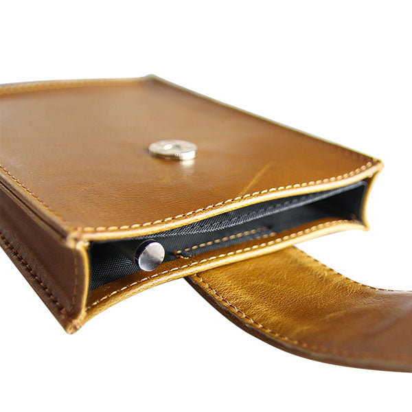 Leather Passport Wallet - Cognac - LD West