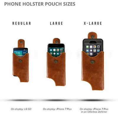 Cell Phone Leather Shoulder Holster (T-FIT) - Cognac - LD West